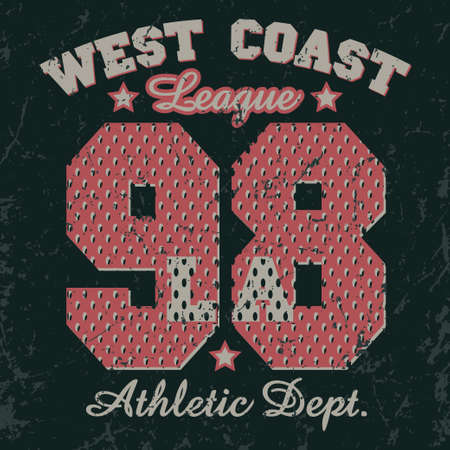 sport wear: California Sport wear typography emblem, t-shirt stamp graphics, vintage tee print, athletic apparel design fashion clothes.