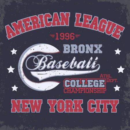 athletic wear: Baseball Fashion Typography stamp Graphics. New York Sport T-shirt print Design. Athletic apparel tee. USA original wear. Vector Illustration