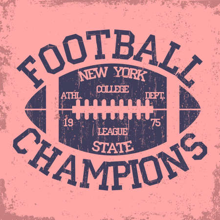 dept: New York Sport Typography stamp, Football Athletic Dept. T-shirt graphics, Vintage Print for sportswear apparel. vector