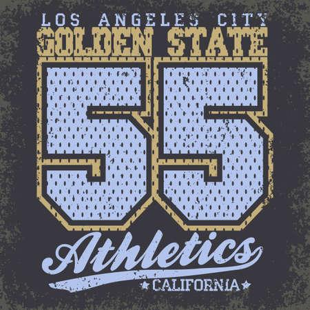 bronx: California Typography Graphics, T-shirt Printing Design, original wear stamp, Vintage Print for sportswear apparel. Vector Illustration