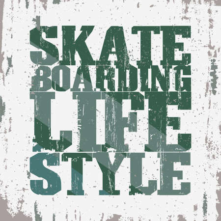 skate board: Skateboarding t-shirt graphic design. Lifestyle Skate Board typography, grunge style emblem. vector