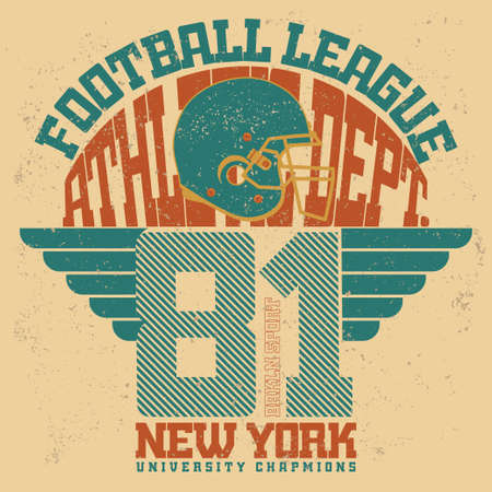 sportswear: Sport Typography stamp, American Football T-shirt graphics, Print for sportswear apparel. vector