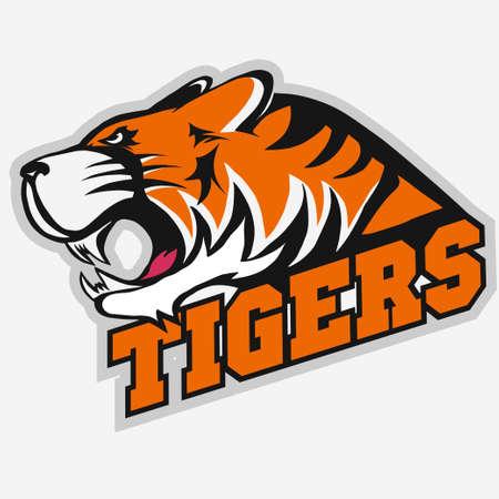 Enojado emblema del equipo Tiger Sport