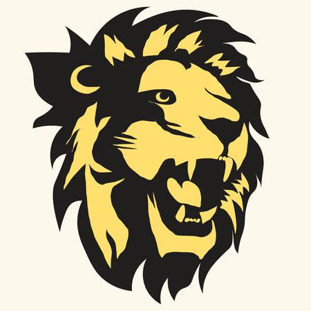 Lion logo. vector