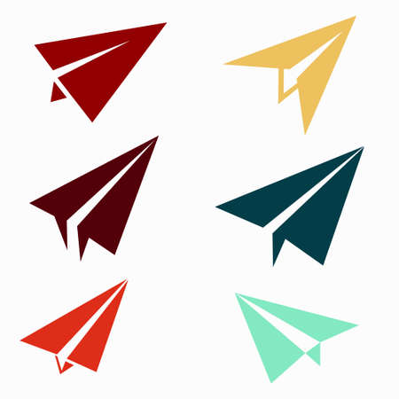 airway: Paper airplane icons Illustration