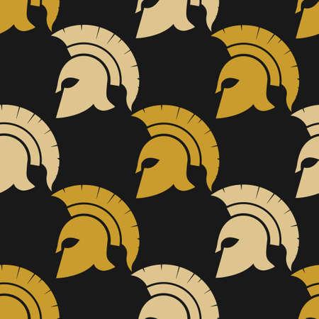 warriors: Spartan warriors seamless pattern Illustration