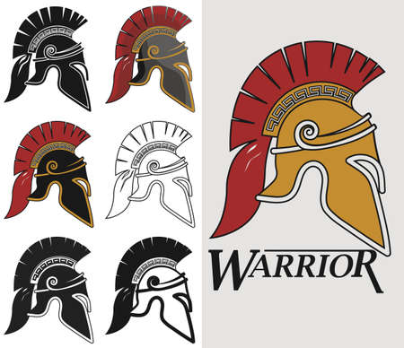 antiquarian: Spartan warrior Helmet in different colors