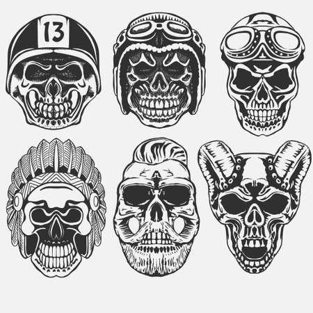 Skull set vector Vector Illustration