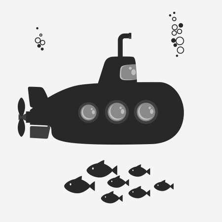 periscope: Submarine with periscope