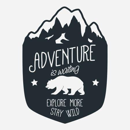 Outdoor expeditie typografie