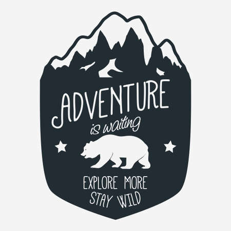 Outdoor expedition typography Stok Fotoğraf - 74487602
