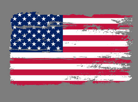 Flag USA Grunge vector 免版税图像 - 75344224