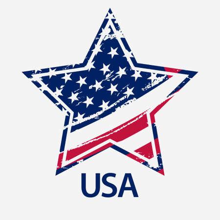 flag: USA Star, Grunge american flag, vector