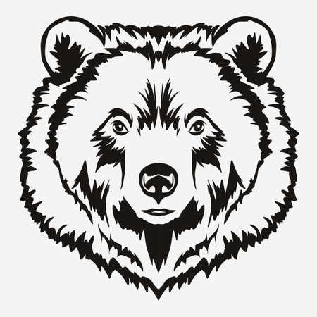 Vecteur de dessin de tête d'ours Banque d'images - 81206705