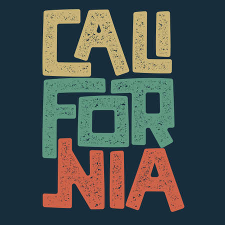 カリフォルニアのTシャツグラフィックデザイン。サーファーは切手を着用する。スポーツタイポグラフィエンブレム。