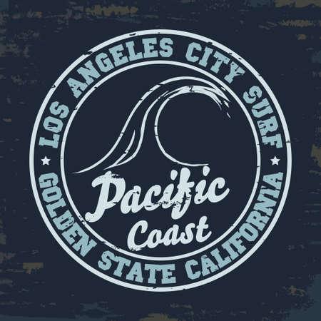Surfing t-shirt graphic design Ilustração