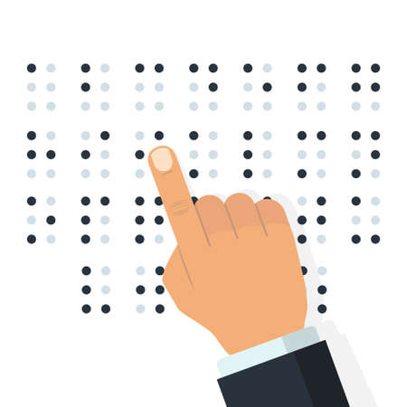 English Braille alphabet. Vector Standard-Bild - 100910657