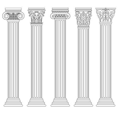 Roman column set, Greek pillar, Ancient architecture