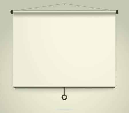 Empty Projection screen, Presentation board, blank whiteboard for conference. Whiteboard background frame. Vector Çizim