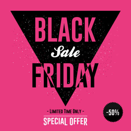Black Friday sale banner with discount design template. Vector  イラスト・ベクター素材