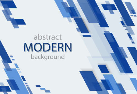 Abstract geometric background. Transparent blue lines. Modern pattern Иллюстрация
