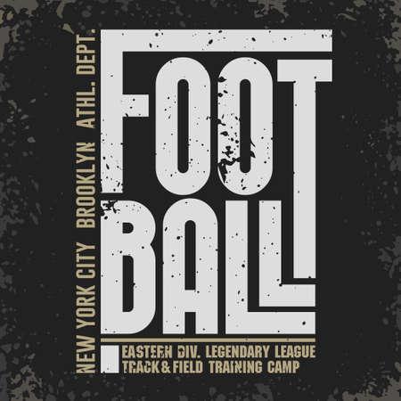 New York Sport T-shirt Typography, Football print. vector Иллюстрация