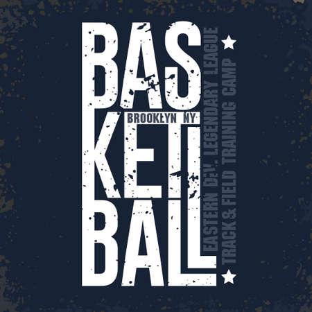 New York Baketball T-shirt Sport Typography, Football print. vector