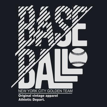 New York Sport T-shirt Typography, baseball print. vector Ilustração Vetorial