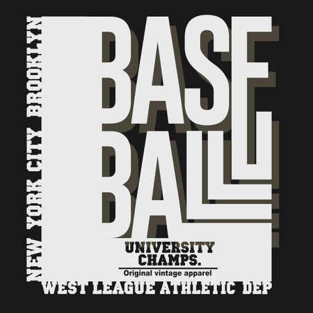 New York Sport T-shirt Typography, baseball print. vector