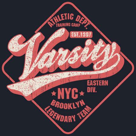 New York Varsity Sport wear typography emblem, t-shirt stamp vector