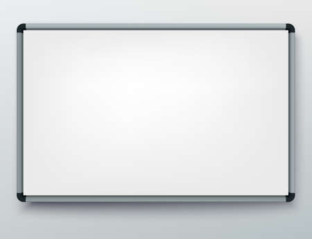 Whiteboard for markers. Presentation, Empty Projection screen. Office board background frame 版權商用圖片 - 143043138