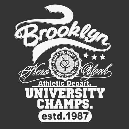 T-shirt stamp graphic. Sport wear typography emblem