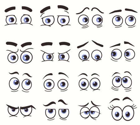 Cartoon Funny Eyes, Cartoon faces. Vector set Vektoros illusztráció