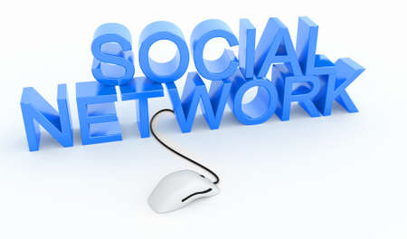 great social network  Stock Photo