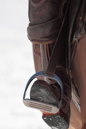 polo player: front spurs