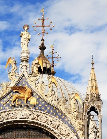dome of a church in Venice at San Marco square Stock Photo