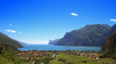 Lake Garda seen from above