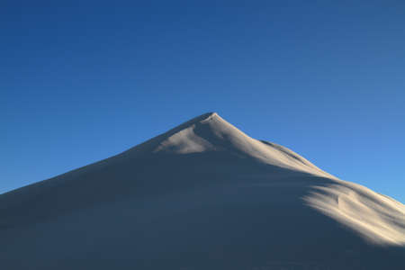 dune of snow in the Dolomites