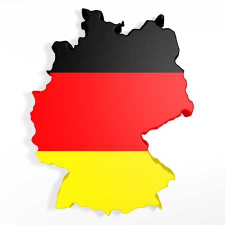 entire: The entire 3d germany on a white background