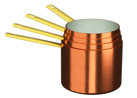 new copper pot but handmade  Stock Photo