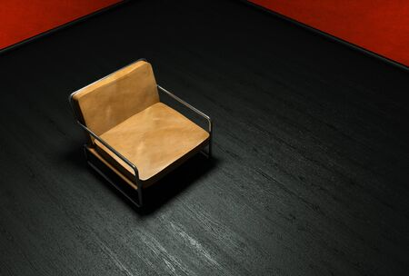 leather armchair: isolated leather armchair   Stock Photo