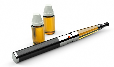 cigarette: electronic cigarette leather and metal