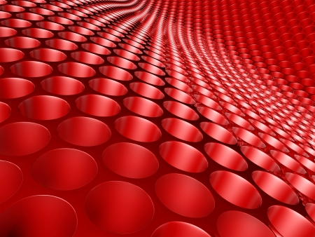 Abstract Honeycomb Red  Stock Photo