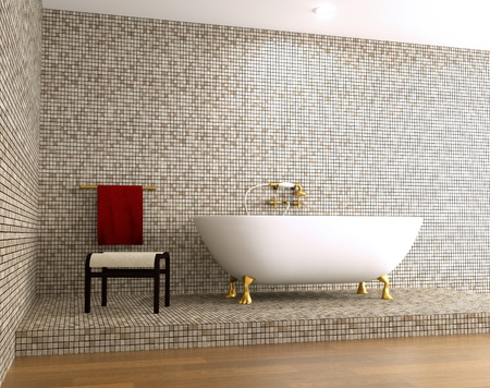 elegant bathtub in antique style Stock Photo