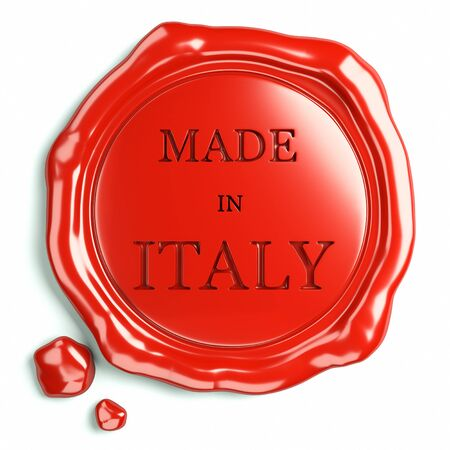 wax glossy: wax seal of italy Stock Photo