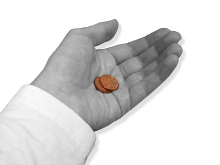 cents: Two Cents Stock Photo
