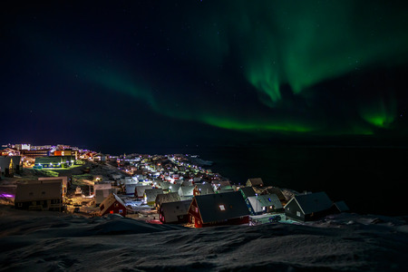 nuuk: Northern lights over Nuuk