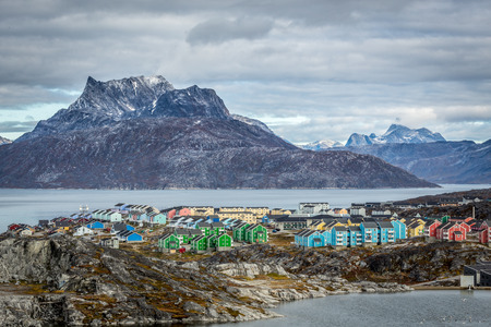 Nuuk paysage, Groenland Banque d'images