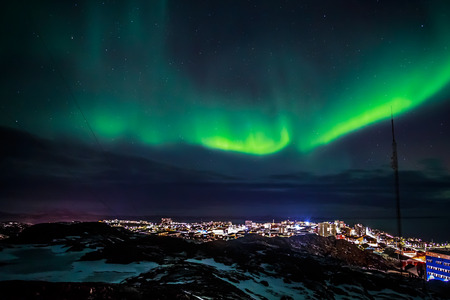 ionosphere: Greenlanic Northern lights, nearby Nuuk, Greenland