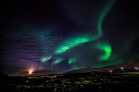 ionosphere: Greenlandic northern lights, nearby Nuuk